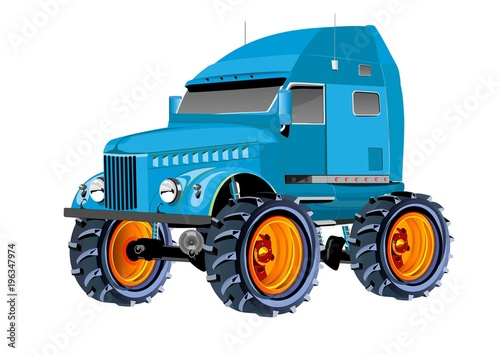 Off road monster truck with big wheels isolated on white blue off road monster truck with big wheels isolated on white blue colored publicscrutiny Images
