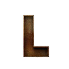 Letter L Grunge Rusted Font. 3...