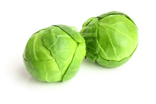 Brussels Sprouts Isolated On W...