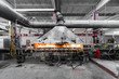 Leinwanddruck Bild - Factory manufacturing of glass production