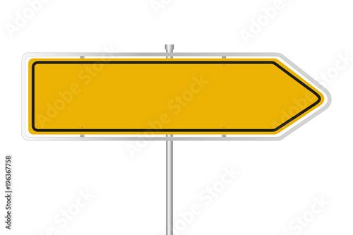 Fotografía  Gelbes Straßenschild