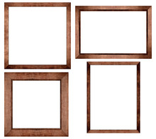 Set Of Brown Wood Frame Or Pho...