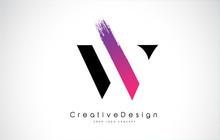 W Letter Logo Design With Crea...