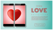 Online Dating Concept Love Has...