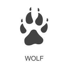 Vector Illustration. Wolf Paw ...