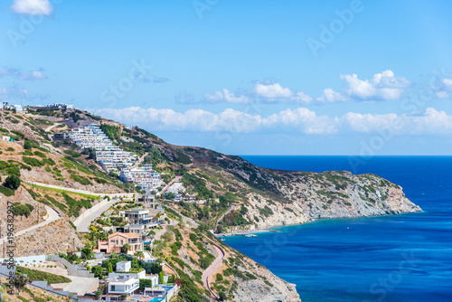 Poster Kust beautiful summer landscape of sea coast in Crete island, Greece