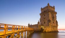Turm Von Belem Lissabon Portugal