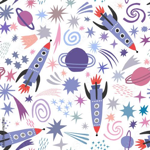 Kosmiczny wzór z kosmicznym i gwiazdy