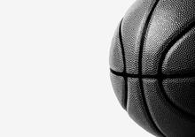 Basketball Ball On White Background.