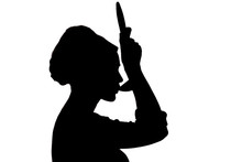 Silhouette Of Woman Cooking In...