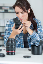 Female Photographer Lens And C...