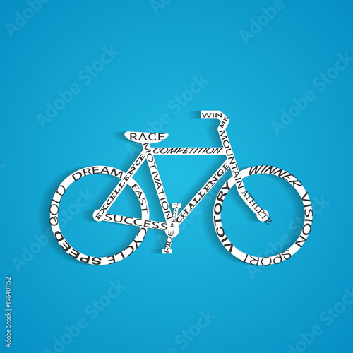 Bicycle Words Illustration