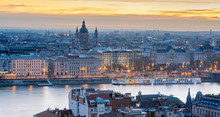 Pest Riverfront Of Budapest, S...