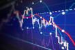 Leinwanddruck Bild - Economic crisis - Financial and business background