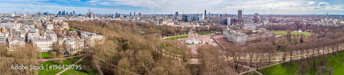 Aerial view on Buckingham palace in sunny day, London Wallpaper Mural