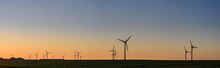 Windpark In The Sunset