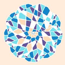 Mosaic Mandala Pattern. Abstra...