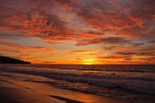 Fiery Sunset, Torrance Beach, ...