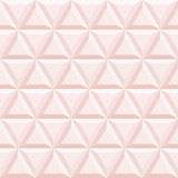 Seamless vector background. Modern ornament with volume repeating light pink triangles. Geometric pattern - 196446953