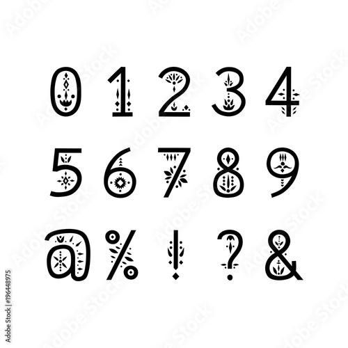Fotografie, Obraz Vector display alphabet