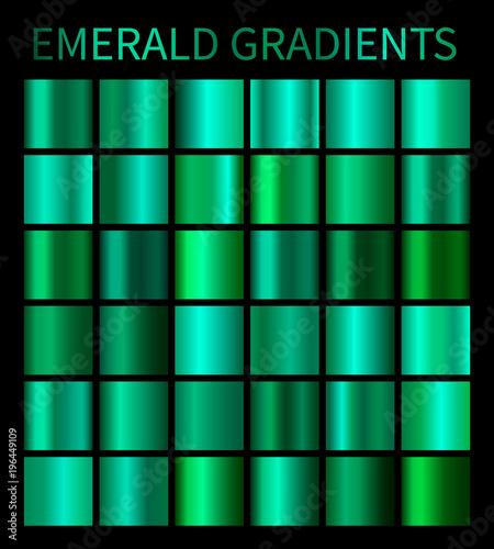 Fotografía Emerald gradients collection for design