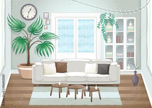 Staande foto Kinderkamer Elegant living room