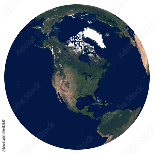 Earth from space. Satellite image of planet Earth. Photo of ... on