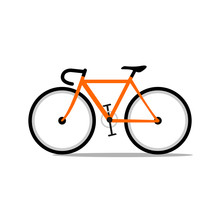 Orange Road Bicycle.