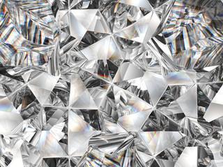 zbliżenie tekstury diamentów i kalejdoskop