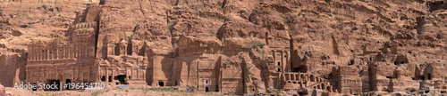 Fotografie, Obraz High resolution panorama of the rock city of Petra, Wadi Musa, Jordan, composed