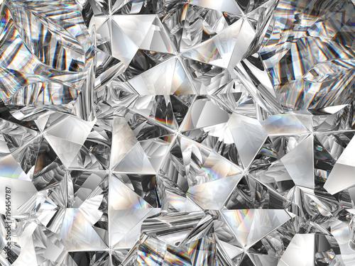 Obraz na plátně diamond texture closeup and kaleidoscope
