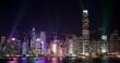 Hong Kong at night, Light show