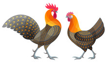 Stylized Chickens - Golden Cam...