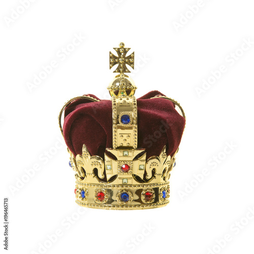 Foto Classic king's crown isolated on a white background