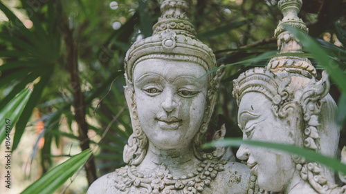 traditional Thai statues  Simian traditions and gods of Buddhism in
