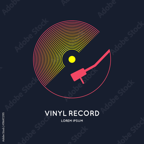 Fotografía  Poster of the Vinyl record
