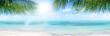 canvas print picture - Ferien, Tourismus, Sommer, Sonne, Strand, Meer, Glück, Entspannung, Meditation: Traumurlaub an einem einsamen, karibischen Strand :)