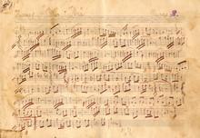 Antique Music Sheet Texture - Vintage Paper Texture Background