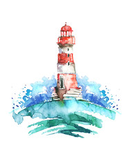 Watercolor Illustration Of Lig...