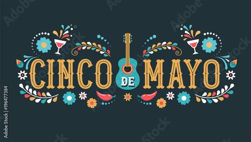 Photo  Cinco de Mayo - May 5, federal holiday in Mexico