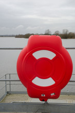 Bright Red Lifebelt Container ...