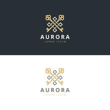 Real Estate Logotype. Keys Logo Icon Design. Premium Logo. - Stock Vector