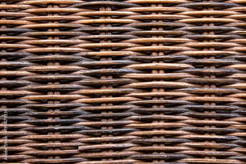 Obraz basket texture rattan - fototapety do salonu