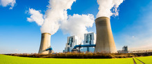 Power Plant With Two Smoking C...