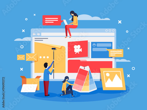 Fotografía Creation of web design for site