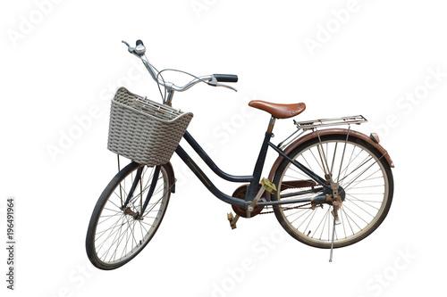 Deurstickers Fiets side view di cut bike on white background,transportation,object,copy space