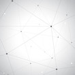 Grey graphic background dots with connections for your design, illustration