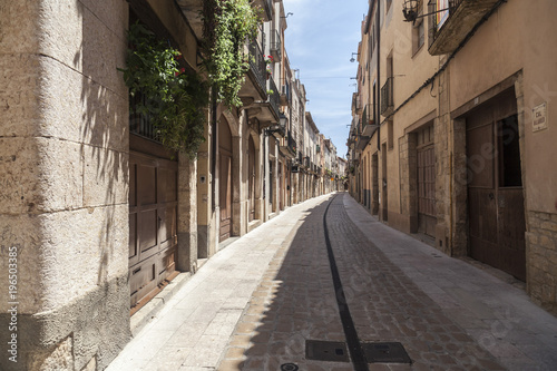 Photo sur Toile Europe Centrale Street view, historic center of medieval village of Montblanc, province Tarragona, Catalonia.Spain.