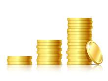 Stacks Of Golden Coins