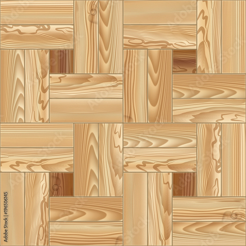 Valokuva Wood floor parquet seamless pattern. Vector illustration